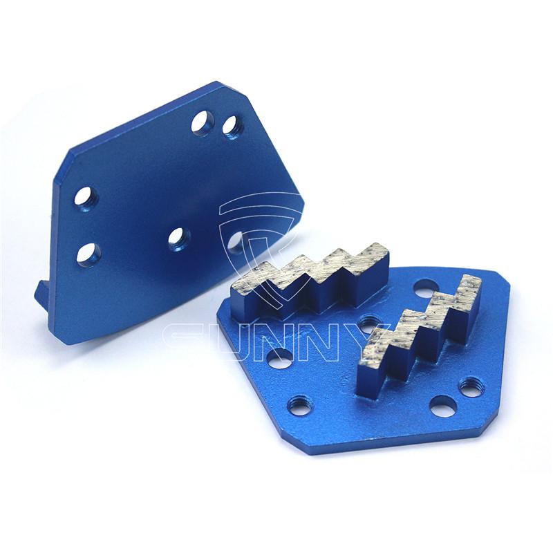 Zigzag type trapezoid diamond grinding shoes for Blastrac Diamatic floor grinders