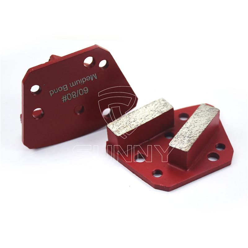 15mm trapezoid diamond grinding segments for blastrac diamatic grinder