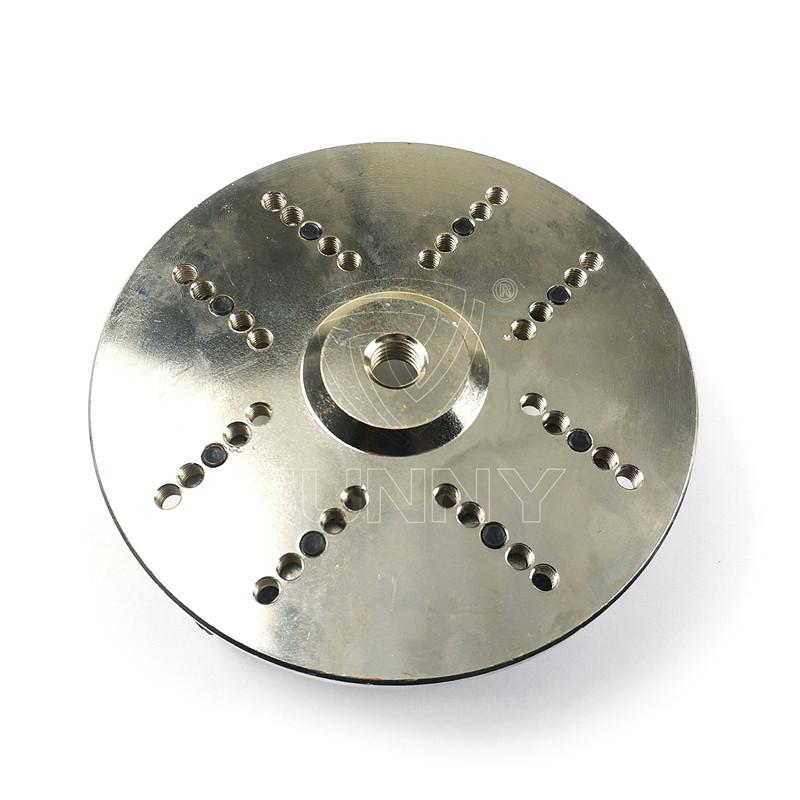 Adjustable 150mm Knurling Type Bush Hammer Plate For Angle Grinders