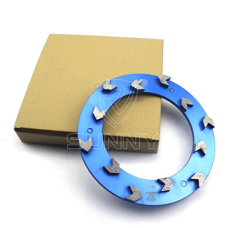 100% Original Factory 4 Dry Diamond Polishing Pads - Arrow Type 240mm Klindex Diamond Grinding Disc For Concrete Floor – Sunny Superhard Tools