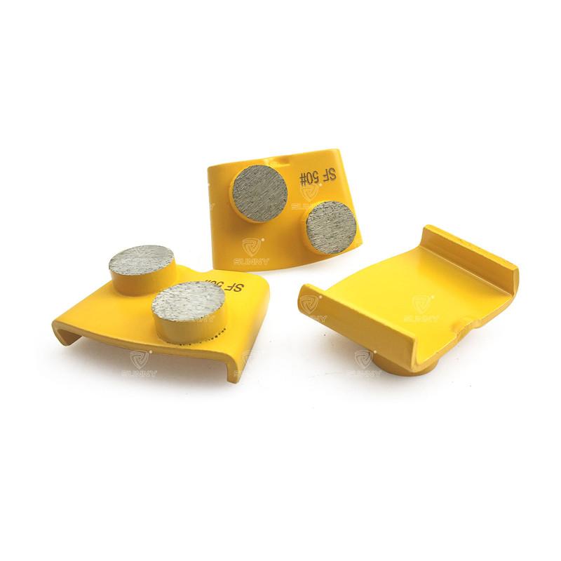 Metal Bond HTC Diamond Grinding Plate With 2 Round Segments