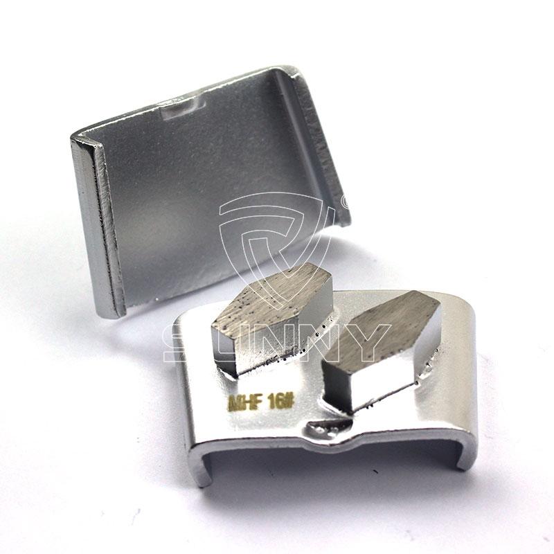 2 Hexagonal Segments Diamond Grinding Disc For Htc Floor Grinders