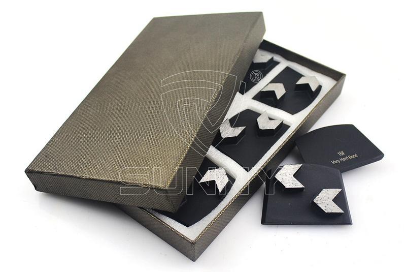 2 Arrow Segments Lavina Concrete Diamond Grinding Blades