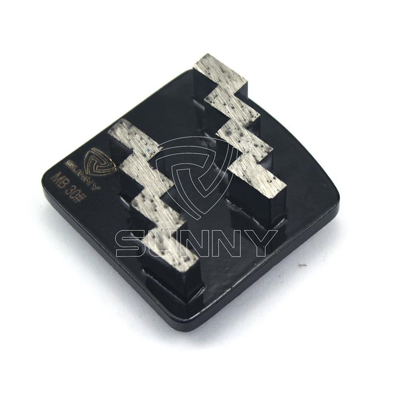 OEM/ODM Factory Diamond Grinding Discs Suppliers - Husqvarna Redi Lock Concrete Grinding Disc With 2 Stair Diamond Segments – Sunny Superhard Tools