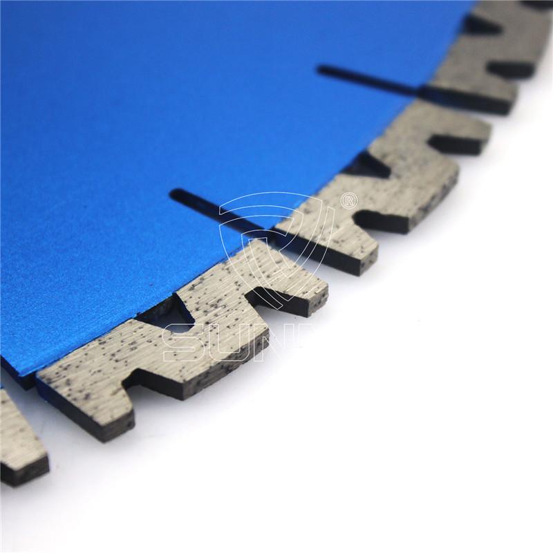 400mm W Shape Silent Granite Cutting Blade For Bridge Saw