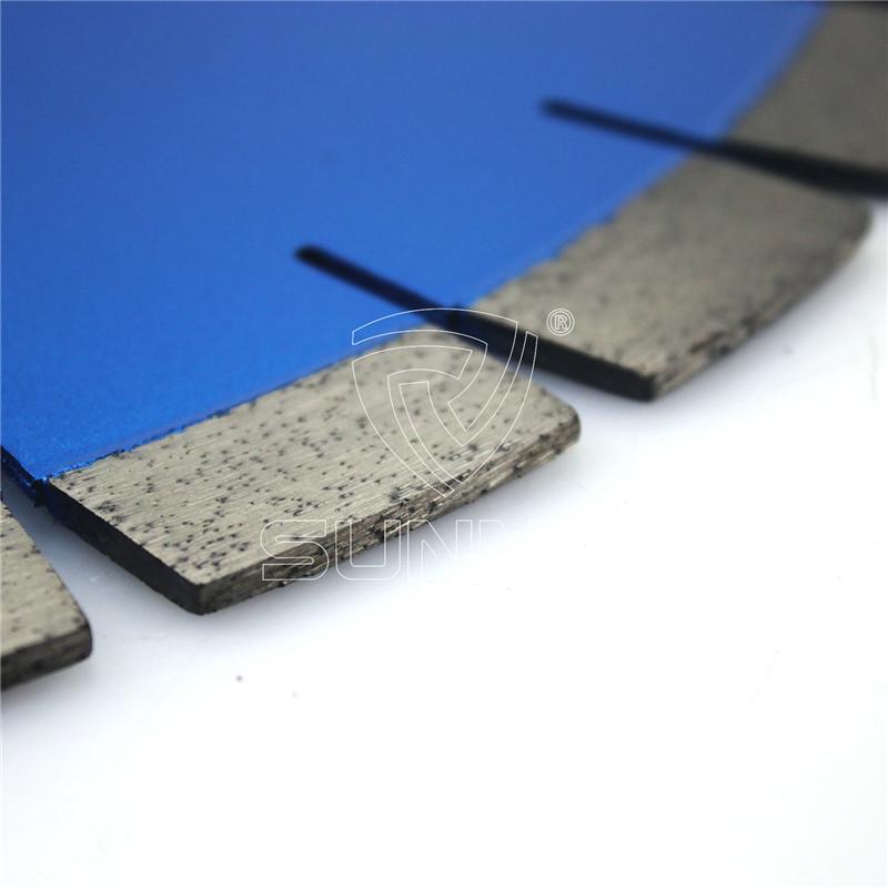 20mm Segment Height Silent Type Diamond Saw Blades For Cutting Granite