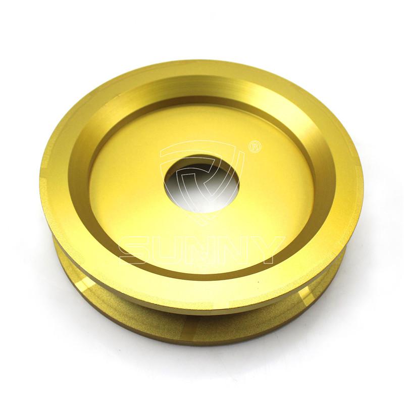 250mm vacuum brazed full bullnose diamond profile wheel
