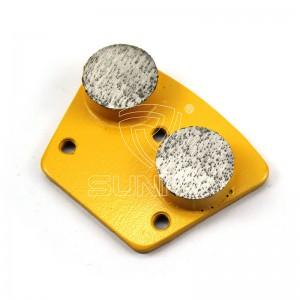 2 Round cm Trapezoid Diamant poléieren Disc Fir konkret Terrazzo Etagen