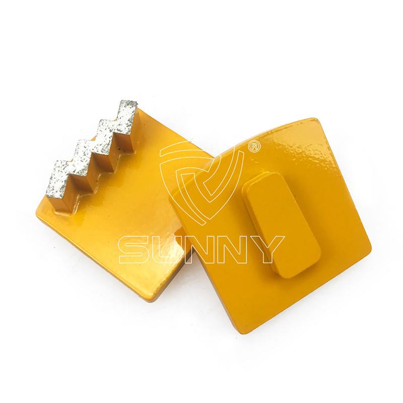 Zigzag husqvarna redi lock diamond grinding segment