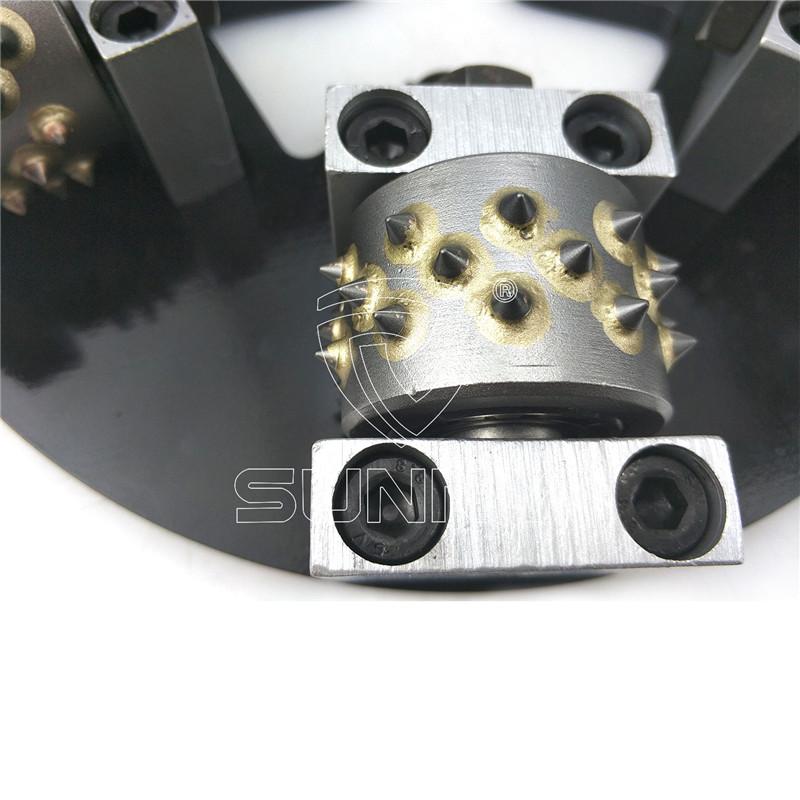 2017 Good Quality Bush Hammer Head - 270mm 6 Heads HTC quick change Rotary Bush Hammer For Sale – Sunny Superhard Tools