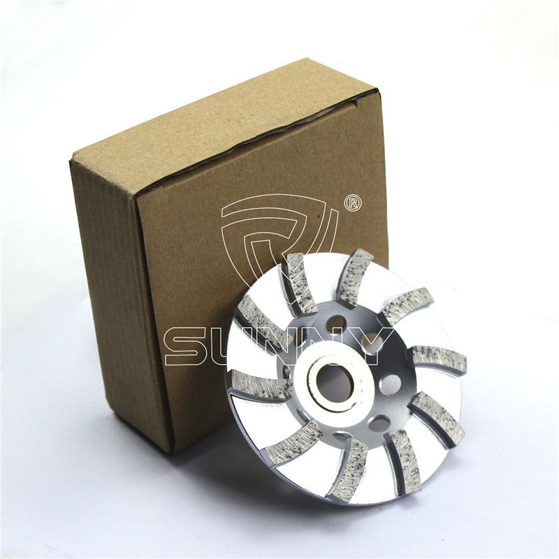 4 Inch Turbo Type Diamond Cup Wheel For Grinding Stones Concrete