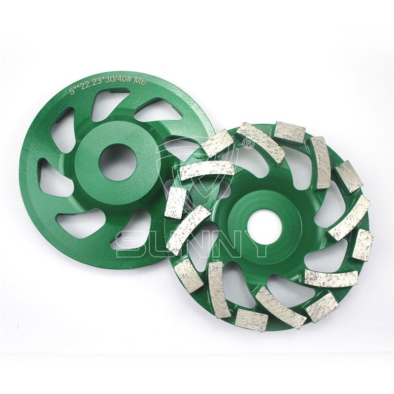 5 inch  Hilti diamond grinding cup wheel with massive segments
