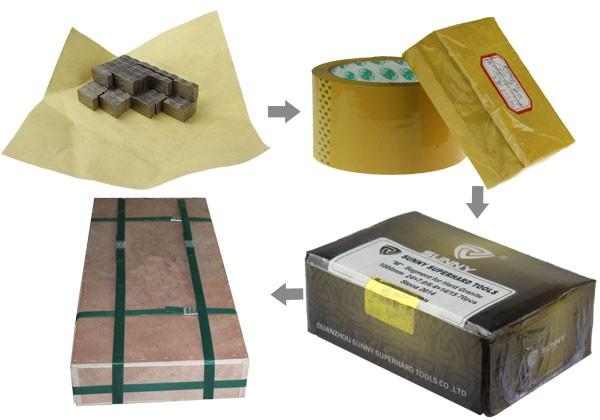 Packing of Sunny diamond segment