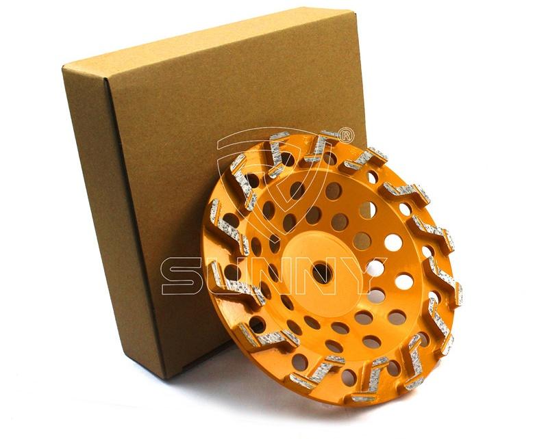 S Segment Type 7 Inch Diamond Cup Grinding Wheel For Concrete (5)_