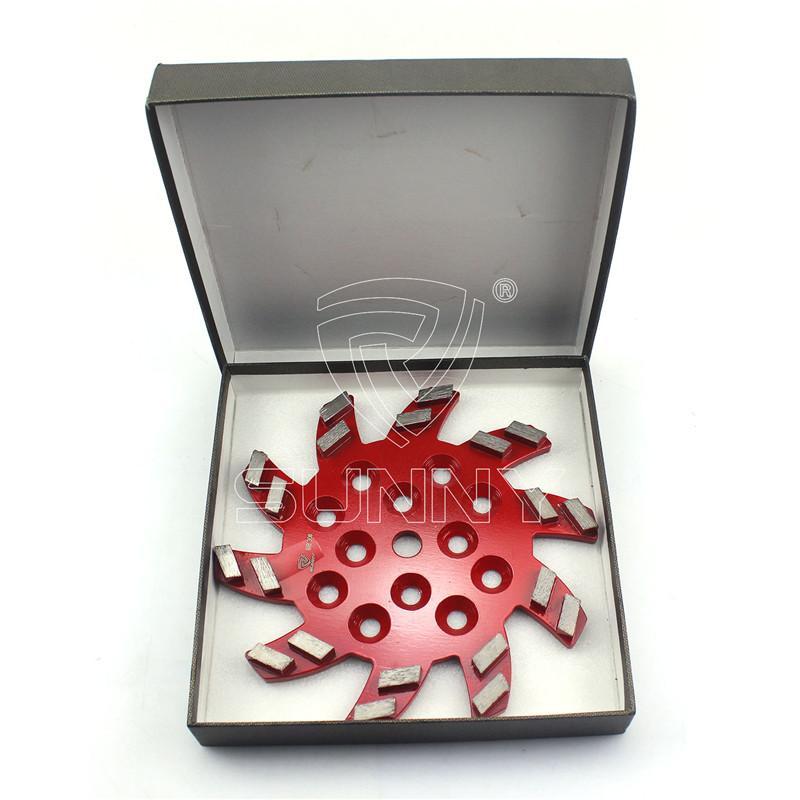 10 Inch (250mm) Fan Type Diamond Grinding Plate With 20 Segments