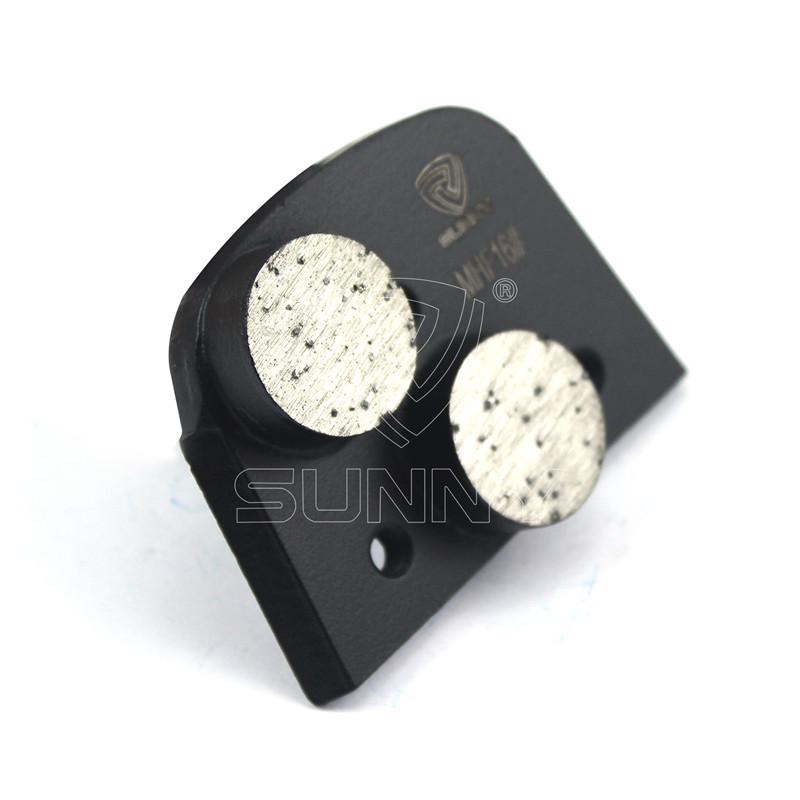 Factory made hot-sale Htc Diamond Segments - Matt Black Lavina Concrete Grinding Disc With 2 Round Segments – Sunny Superhard Tools Featured Image