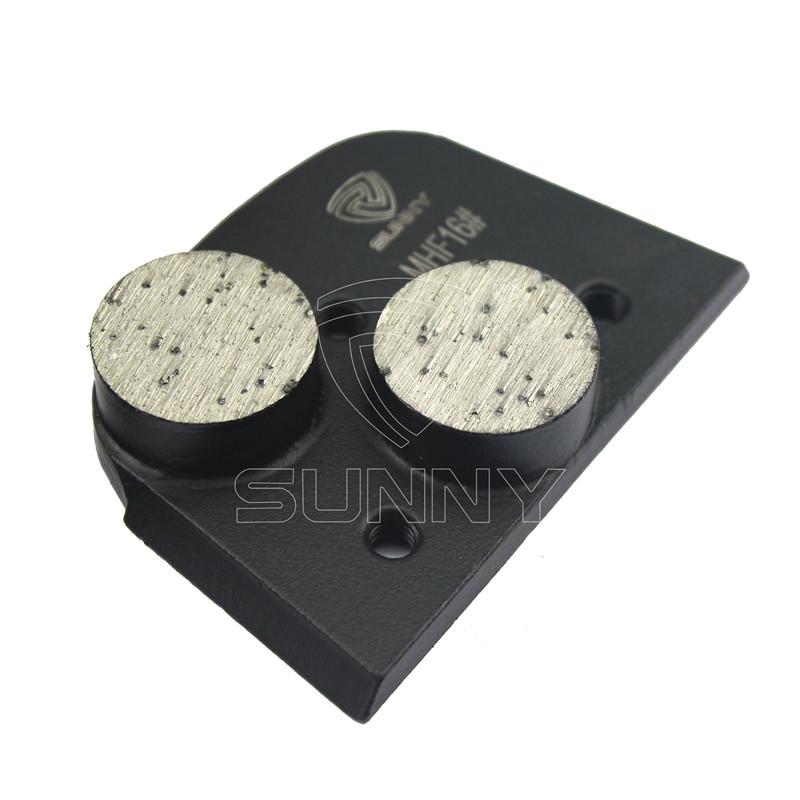 Factory made hot-sale Htc Diamond Segments - Matt Black Lavina Concrete Grinding Disc With 2 Round Segments – Sunny Superhard Tools