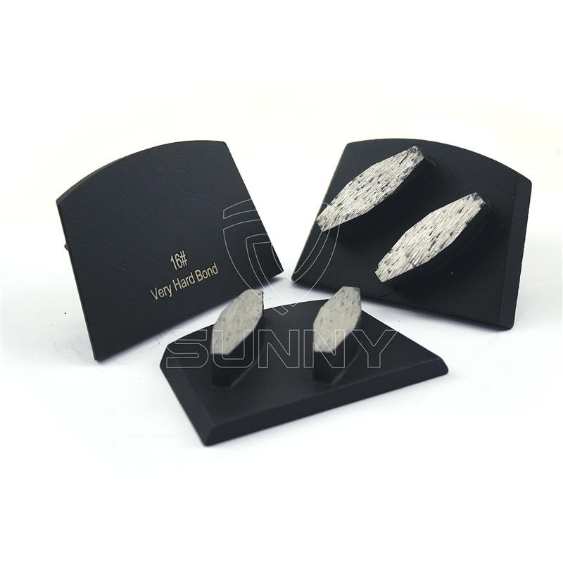 2 Segments Lavina Diamond Shoes For Grinding Concrete Floors